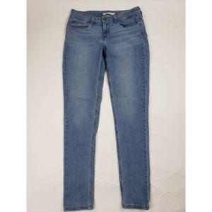 Levis 535 Super Skinny Light Wash Denim Jeans